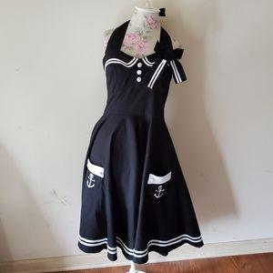 Hell bunny vixen sailor dress punk goth nautical
